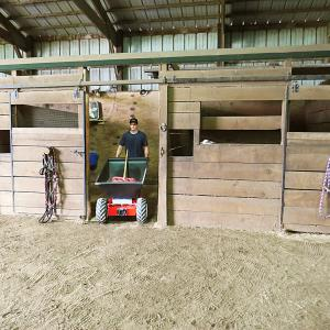 Exiting Horse Stall