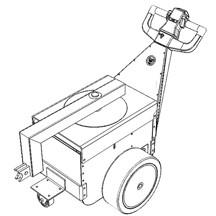 Quinta rueda con perno y cerradura de conexión modificado para ajustar la cisterna