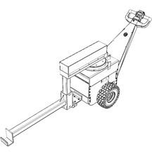 Elevación eléctrica de quinta rueda con extensión