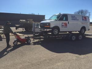 Trailer Mover with Nu-Star Van