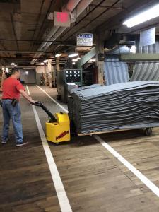 Power Tug Hauling Materials