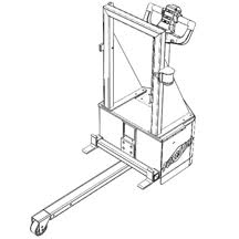 For moving flat side carts with no connection point, with nylon strapping that secures cart to unit
