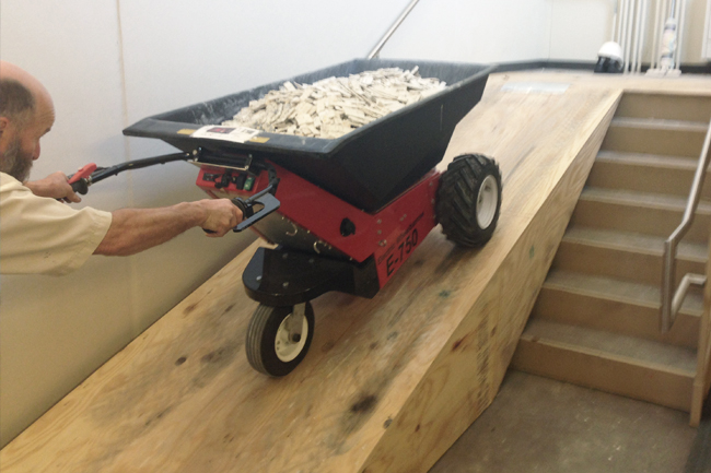 Move Heavy Construction Loads with Electric Wheelbarrows and Pushers