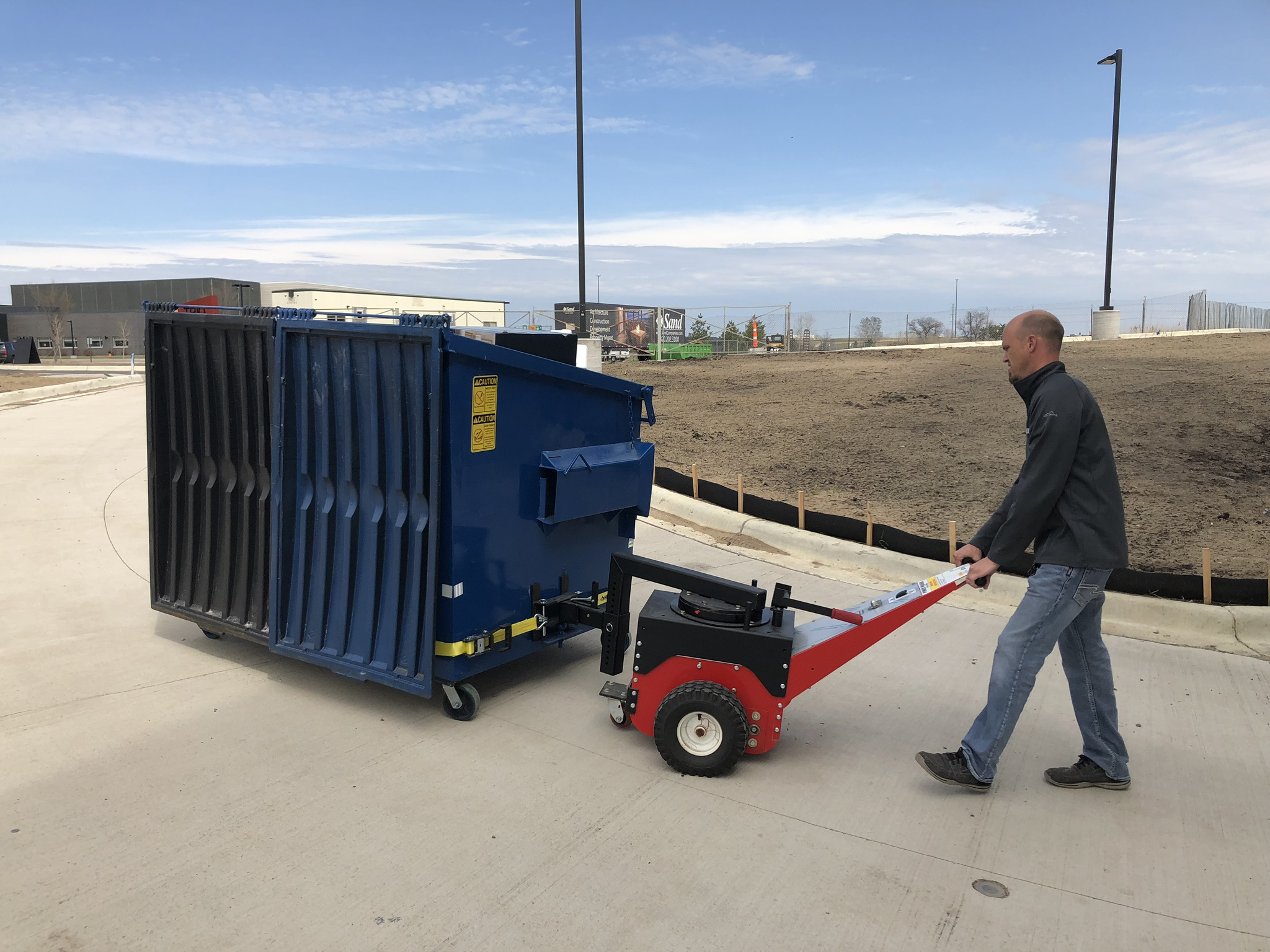 Electric Pusher for Dumpsters, Large Trash and Waste Bins