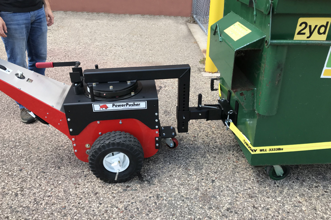 Powered Dumpster Mover by Power Pusher
