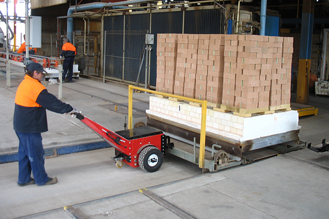 Material Handling Electric Tugs and Pushers for Moving Ceramics