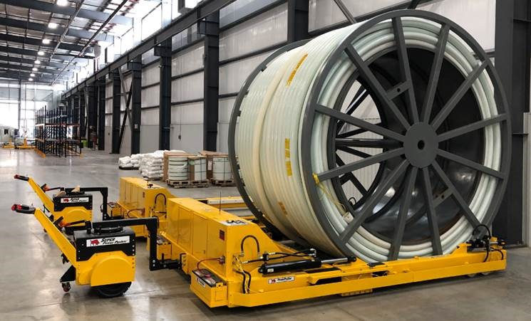 Material Handling Tugs and Electric Pushers for Cables and Reels