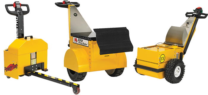 Battery-Powered Material Handling Tuggers & Pushers