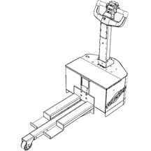 Extended attachment to compensate for load overhang