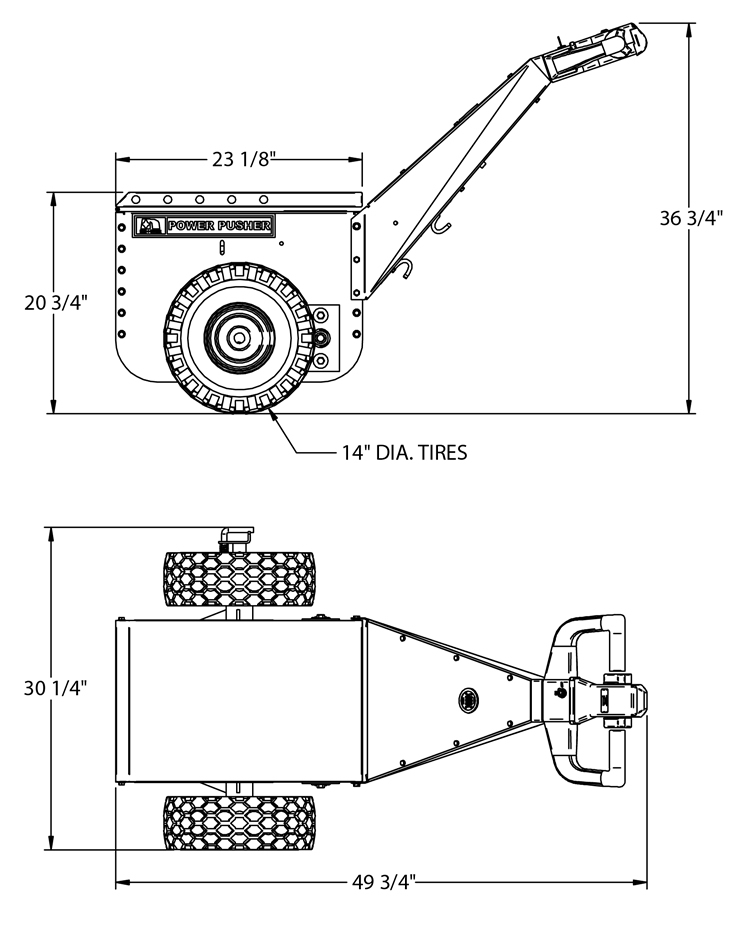 Power pusher electric tug mover | nu-star mhl.